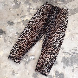 NWOT Ganni Camberwell Leopard Linen Tapered Pants